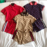 Gucci Short sleeve Top Shorts Pants Sweatpants Set Two-Piece Sportswear GG