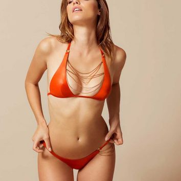 Tonya Bikini Top Orange