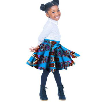 Girls' Skirt Pleated 100% Cotton Cambric