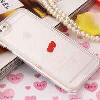 Heart Dynamic White Liquid Glitter Sand Quicksand Star Bling Clear iPhone case Phone Case