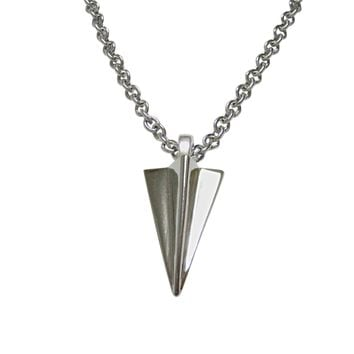 Paper Airplane Pendant Necklace