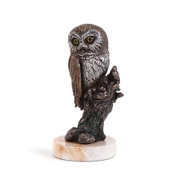 Saw Whet Owl Sculpture