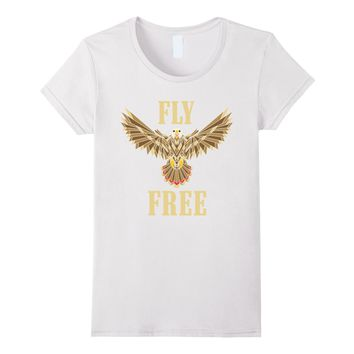 Eagle FLY FREE Shirt- Psychedelic Abstract Geometric Design