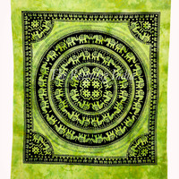 Indian Hippie Mandala Elephant Tapestry Throw Bedspread Tablecloth Bedding 3988