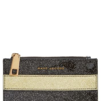 MARC JACOBS Glitter Stripe Leather Wallet | Nordstrom