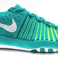 DCCK8BW NIKE WOMEN Free Transform Flyknit CLEAR JADE/WHITE-RIO TEAL-VOLTAGE GREEN 833410-301_10