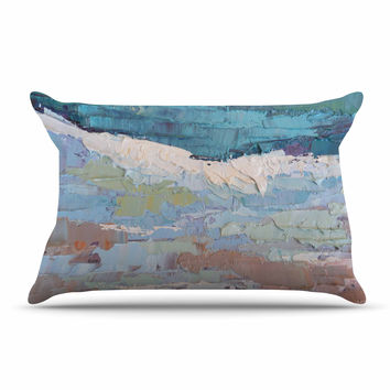 "Carol Schiff ""On the Beach"" Coral Blue Pillow Sham"