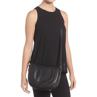Sole Society Piri Faux Leather Saddle Bag   Nordstrom