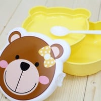 Two Layers Lovely Cartoon Student Bento Lunchbox