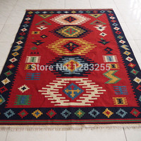 Turkish floor carpet area rug lattice Antrim carpet / kilim tapestry / tapestry / hand-woven rugs  gc137-34