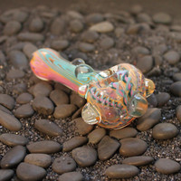 Inside out color changing glass pipe