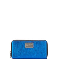 Classic Q Metallic Wingman Zip Wallet, Scuba Blue - MARC by Marc Jacobs