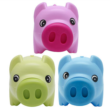 Money Box Plastic Piggy Bank Coin Money Cash Collectible Saving Box Pig Toy Kids Gift