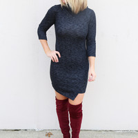 Dark Grey Turtleneck Bodycon