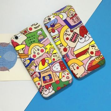 Fashion Japanese cartoons printed plastic Case Cover for Apple iPhone 7 7Plus 6 Plus 6 -005-12-Craftonline