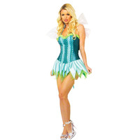 Leg Avenue Womens Meadow Fairy Halloween Party Dress Costume