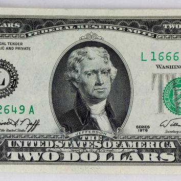 US $2 Dollar Bill