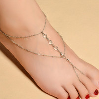 Fashion Summer with Foot Anklet Girl & Women jewelry Boho s Anklet bracelet