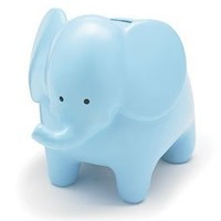 Whimsical Blue Elephant Piggy Bank Great Nursery Decor