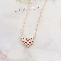 True Heart Pendant Necklace - Rose Gold
