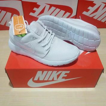 """Nike Roshe Run"" Unisex Sport Casual Classic Light Running Shoes Couple Fashion All-match Sneakers"