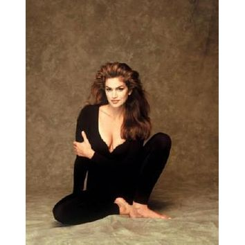 Cindy Crawford poster Metal Sign Wall Art 8in x 12in