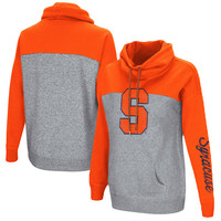 Syracuse Orange Colosseum Women's Color Block Springboard Funnel Neck Pullover Sweatshirt - Orange