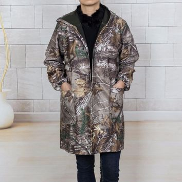 Waterproof  dust proof camouflage apron 3 layers of composite material hunting coat trench B1-146