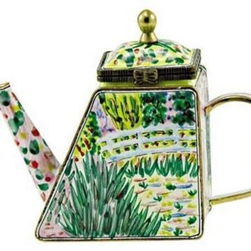 Claude Monet Waterlilies Impressionist Mini Collectible Teapot