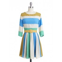 Seashore Striped Dress | Vintage Inspired Dress, Romantic Clothing | Lily and Violet | Lily and Violet