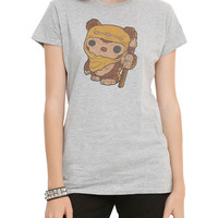 Funko Star Wars Pop! Wicket Warrick Girls T-Shirt Hot Topic Exclusive