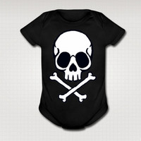 Kawaii Jolly Roger Pirate baby Onesuit
