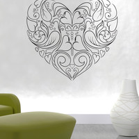 Vinyl Wall Decal Sticker Hearts And Leaves #1521