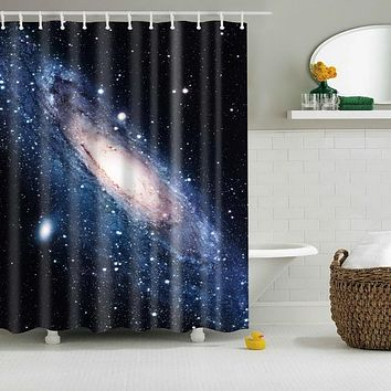 Space Universe Waterproof Shower Curtain