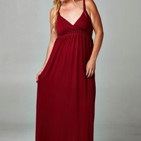 Women's Plus Size Braided Strap Maxi Dress