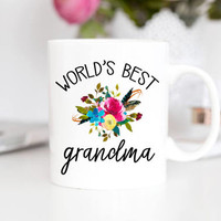 Grandma Mug | Grandma Mothers Day | Worlds Best Grandma | Grandparent Gift | Mother's Day Gift | Grandma Coffee Mug | Nana Mug | Nana Gift