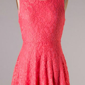 Dinner Party Dress - Coral