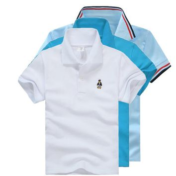 High Quality All-Match Unisex Boy Polo shirts for Kids Summer Toddler Big Boy Tops Gi