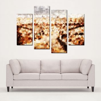 4 Panels Canvas Prints Wall Art for Wall Decorations