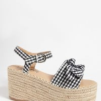 Lemon Drop by Privileged Shoes Wedge Espadrille Sandals