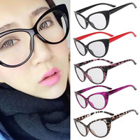 Retro Sexy Women Eyeglasses Frame Cat Eye Clear Lens lady Eye Glasses
