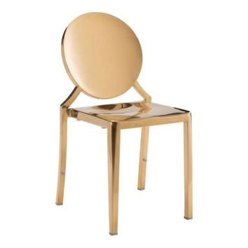 Eclipse Dining Chair S/2 | Gold