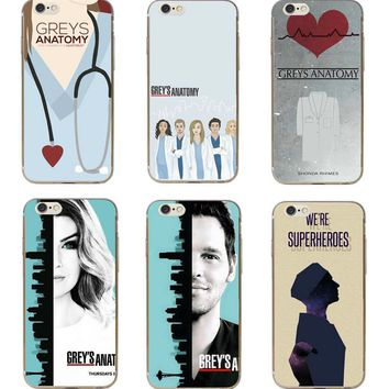 Greys Anatomy Hard Phone Case Cover iPhone 5/6/7/8/X Plus Back Cases Skins Kit