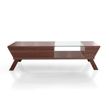 Tandor Modern Coffee Table in Walnut