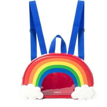 2017 Women Designer Korean Backpack Colorful Rainbow School Bags Transparent Bag For Teenager Special Backpacks Bolsos Mujer