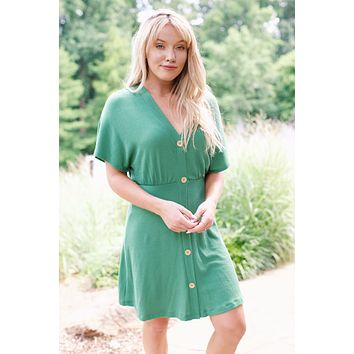 Lady Luck Knit Dress, Kelly Green