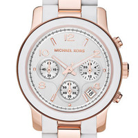 Michael Kors 'Silicone Runway' Rose Gold Chronograph Watch | Nordstrom