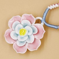 Ceramic Jewelry-floral, Adjustable, Hand Weaving, China Necklace