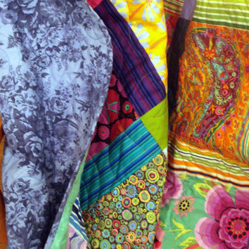 Queen Quilt With Kaffe Fasset Fabrics Bold and Beautiful