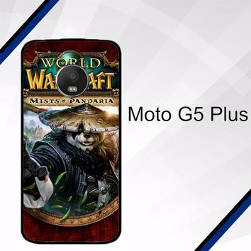 World of Warcraft Guardian Druid Mists of Pandaria Z0652 Motorola Moto G5 Plus Case
